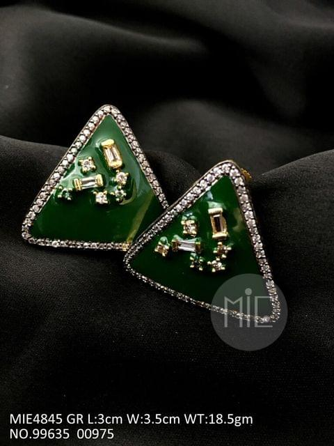 Brass+ Semi Precious Stone Stud: 3.0 centimeters in length and width is 3.5 centimeters