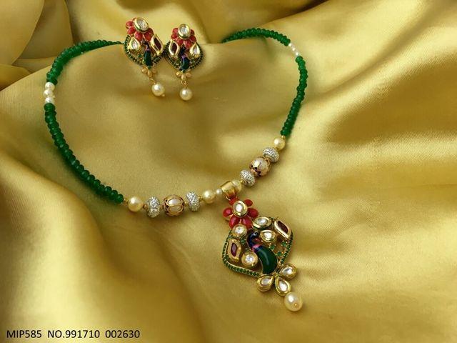 Metal- Brass ,Color- Gold ,Stone- Kundan