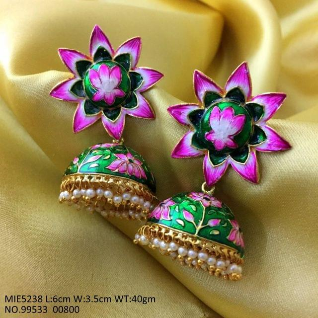 High class Hand-painted earring with an year warranty