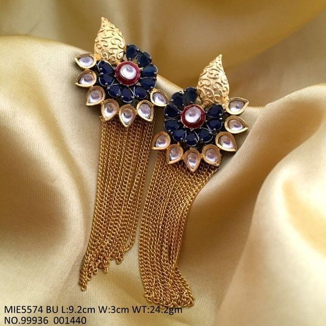 American Diamond + Brass earrings