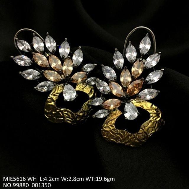 High Class American Diamond earrings - White Coloured