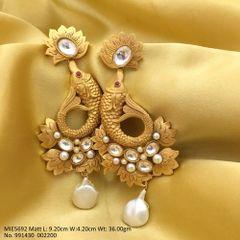 High quality Brass earring Antique Matt Gold 1 gram plating