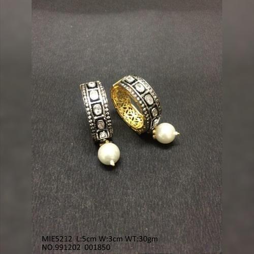 High class earrings studded with precious Stone