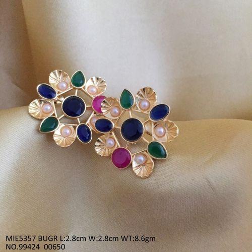 Brass+ American Diamond Stud with an year warranty