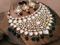 High Class Heavy Kundan Necklace set with an year warranty