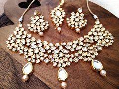High Class Kundan Necklace set with an year warranty