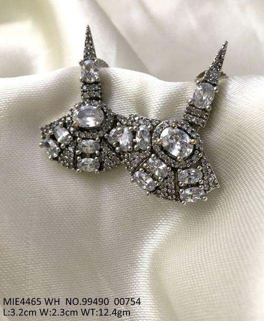 High class earring studded with American Diamond . 1 year warranty