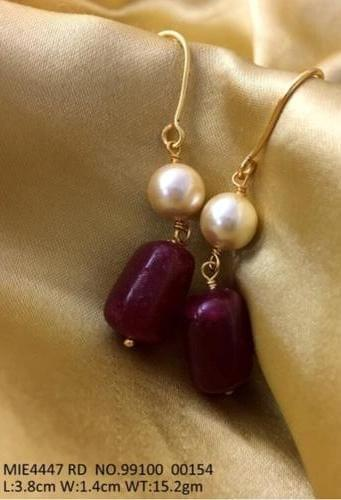 Pearl and Beads,Metal: Brass Plating- Golden with warranty