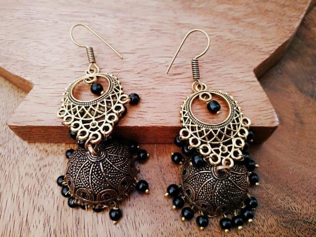 Pair of beautiful GERMAN SILVER earrings with an year warranty