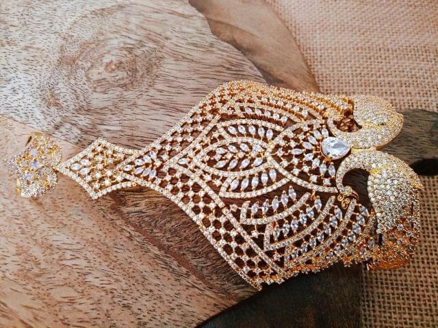 Gold plated American Diamond Kada . 1 year warranty