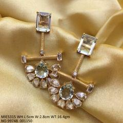 Buy this beautiful dangler studded with the high quality of American Diamond Stones
