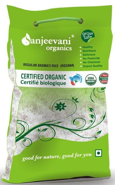 Organic Regular Basmati Rice  (ROZANA) 5000 Gms