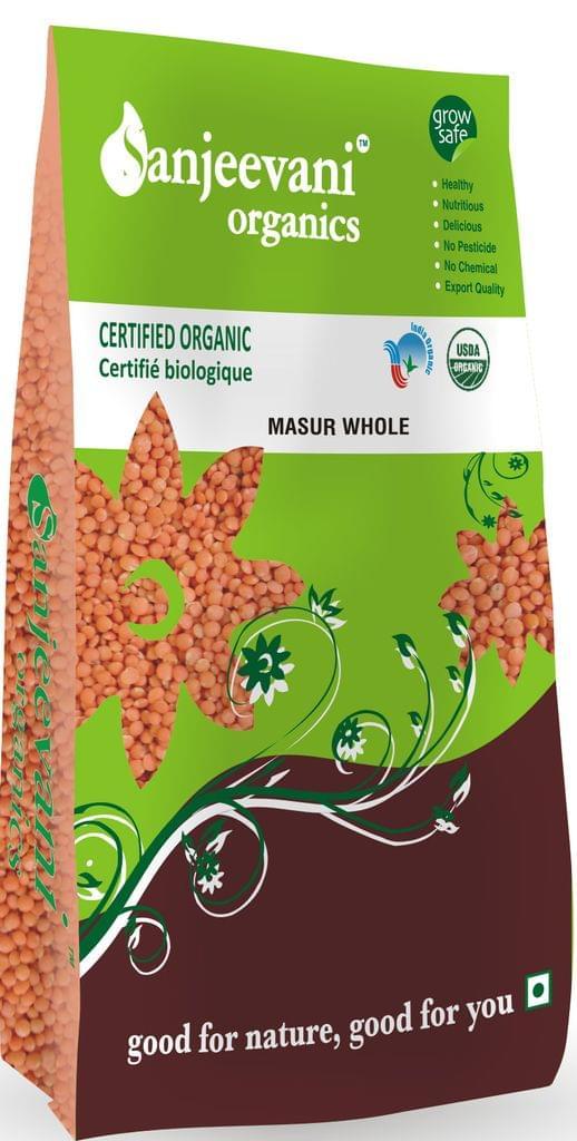 Organic Masur whole 1000 Gms