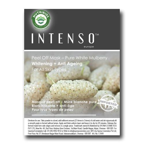 Intenso Peel off mask (Anti Ageing + Whitening) powered with White Mulberry