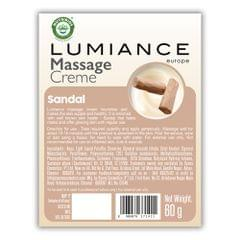 Lumiance Massage Cream (single use) with Sandal 60g (Pack of 10)