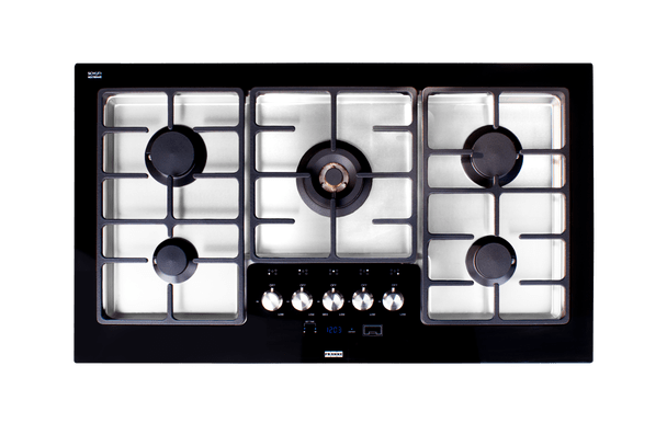 100.5cm Gas Cooktop Black Glass & S/S NG