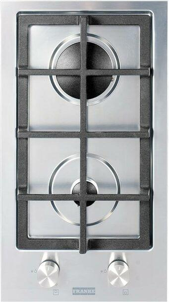 30cm Gas Cooktop w/ 2 Burners, Cast Iron Trivets - S/S