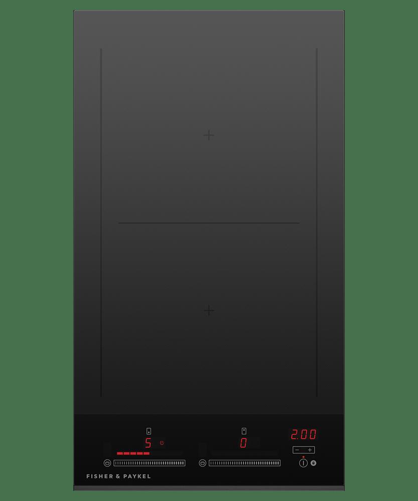 30cm Induction Cooktop w/ 2 Cooking Zones - Black