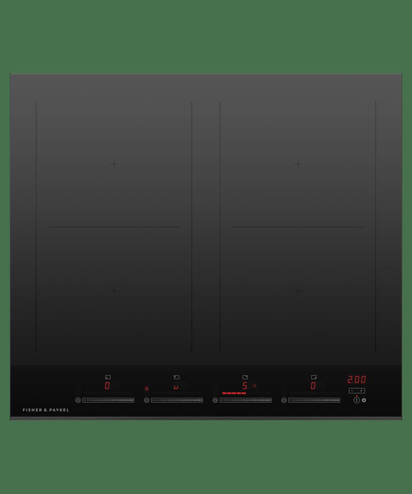 60cm Induction Cooktop w/ 4 Cooking Zones - Black