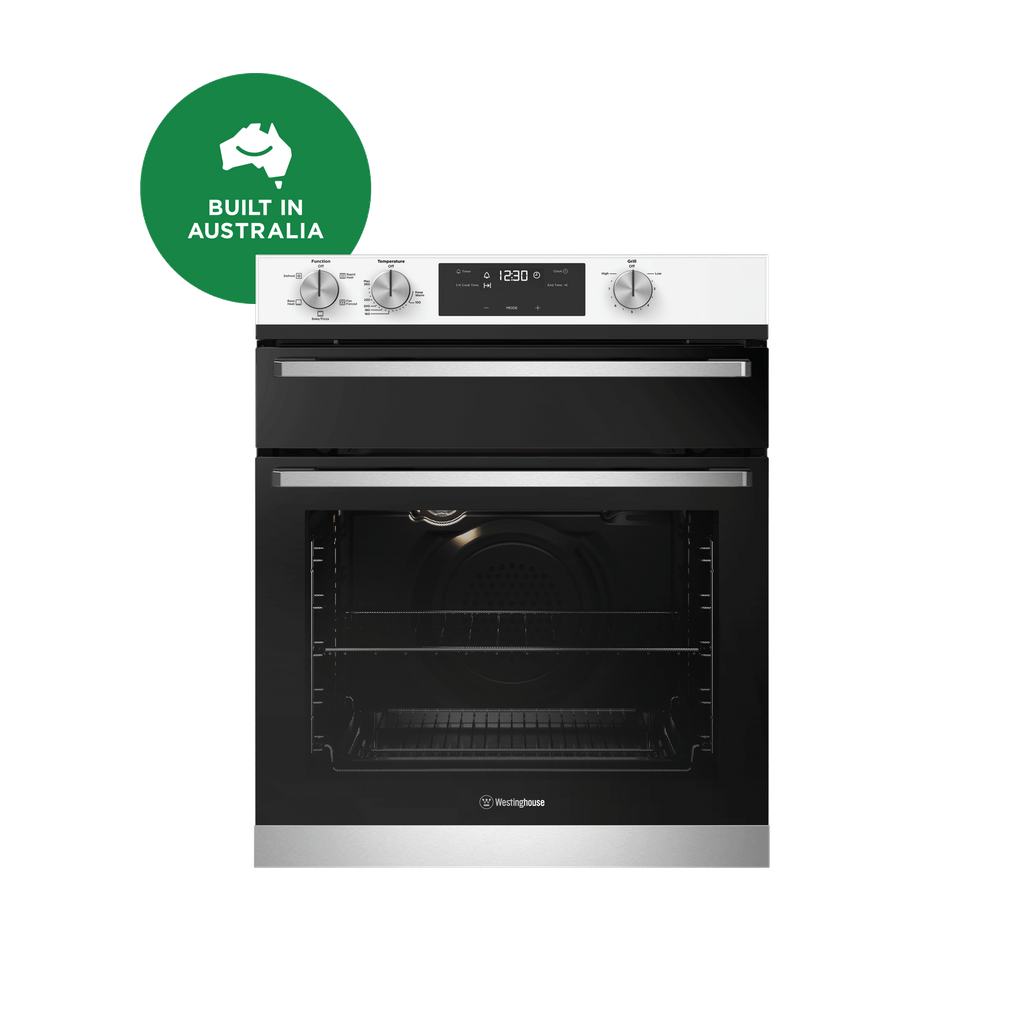 60cm Underbench Oven Separate Grill 5 Function White