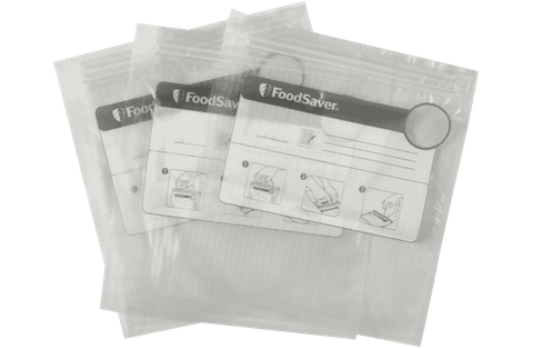35 x FoodSaver Reusable Vacuum Zipper Bags - White