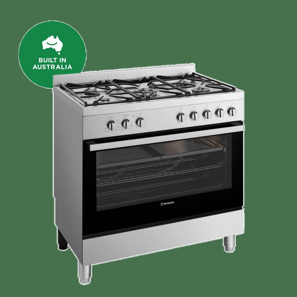 90cm Freestanding Cooker w/ Gas Cooktop, 8 Functions - S/S
