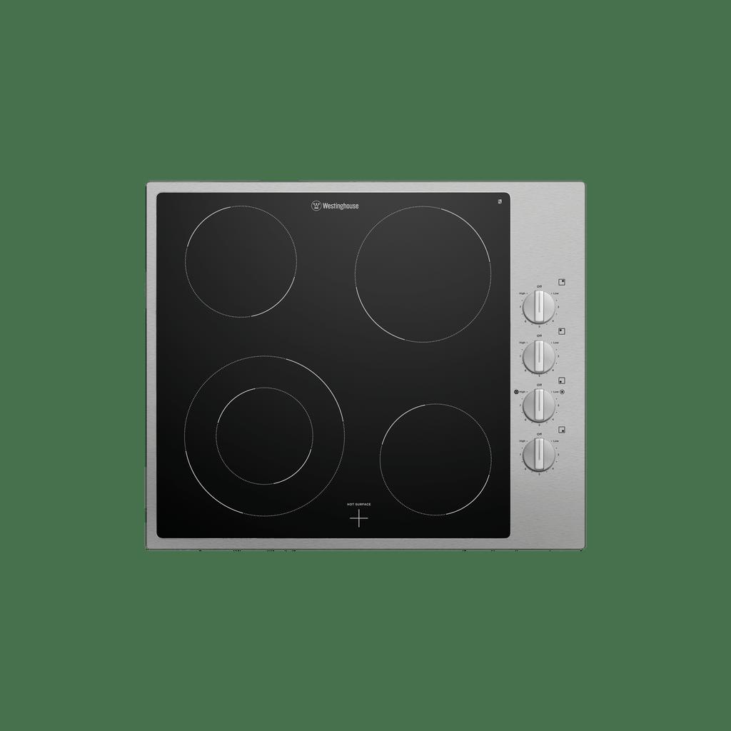60cm Ceramic Cooktop 4 Zone Knob Control S/S Trim
