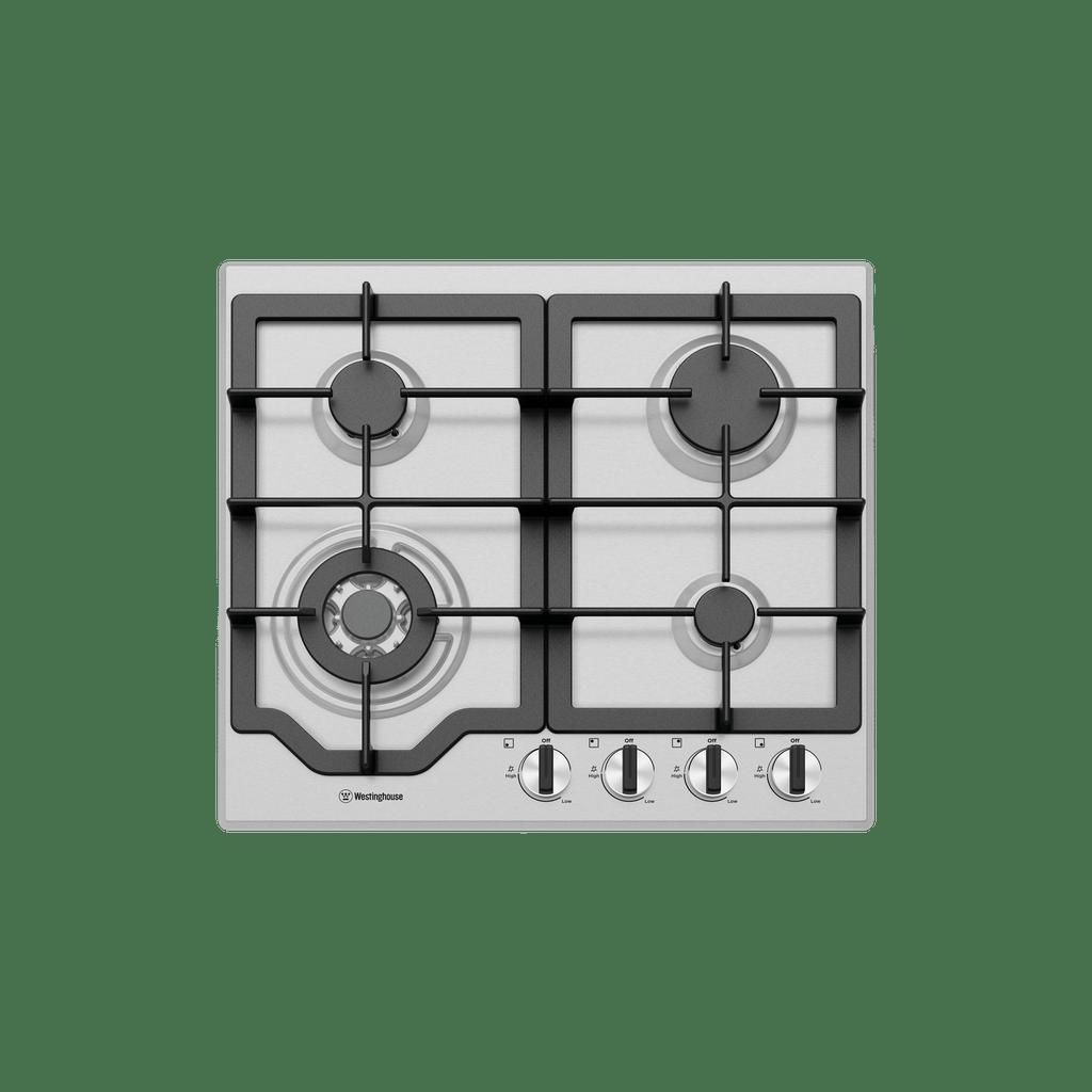 60cm 4 Burner Gas Wok Cooktop Enamel Trivets Flamef