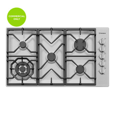 90cm Gas Cooktop C.I Trivets Side Control