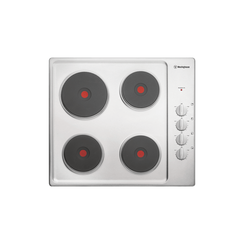 60cm Electric Solid Cooktop, Knob Controls S/S