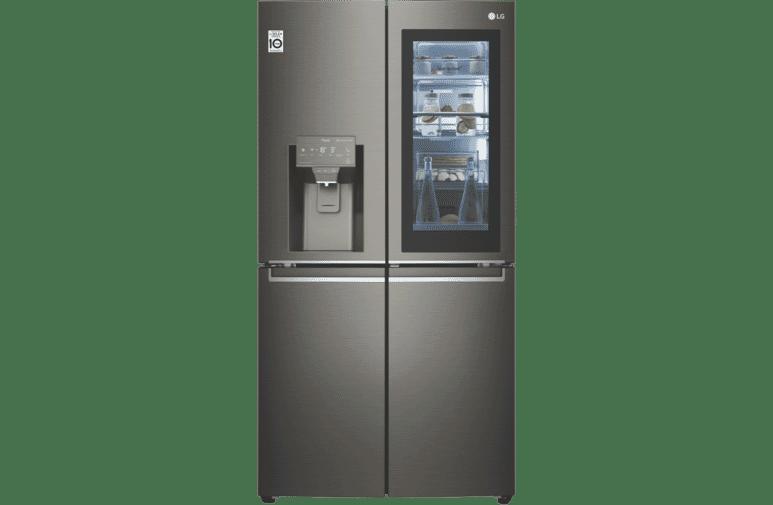 706L French 4 Door Fridge w/ Instaview - Black S/S