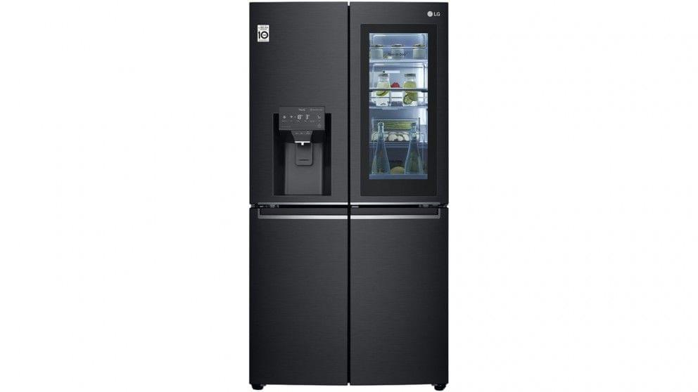 706L French Door Fridge with Insta View Matte Black