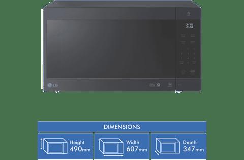 56L Inverter Microwave 1200W Touch Control - Matte Black