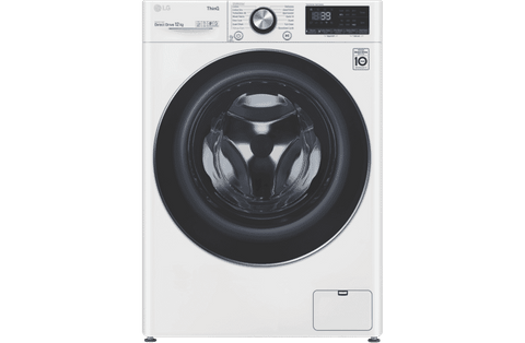 12kg Front Load Washer 1400rpm - White