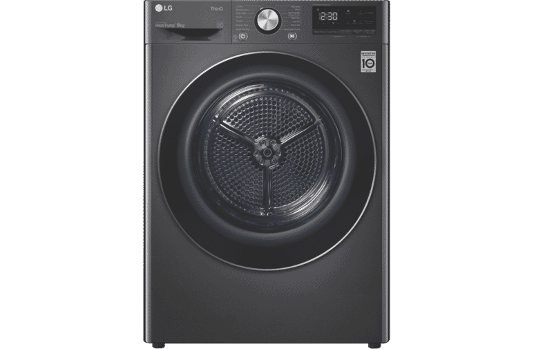 LG 9kg Heat Pump Dryer Black Stainless