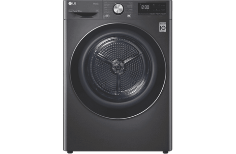 LG 9kg Heat Pump Dryer Black Stainless