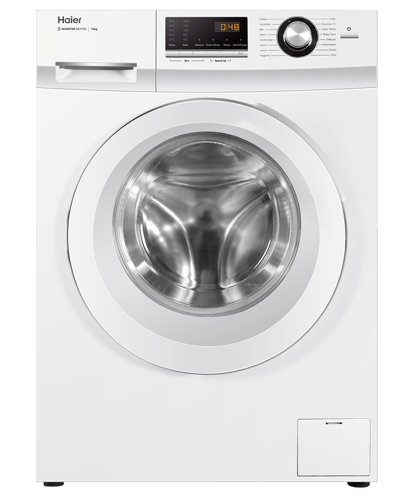 10kg Front Load Washer w/ 16 Programs - White