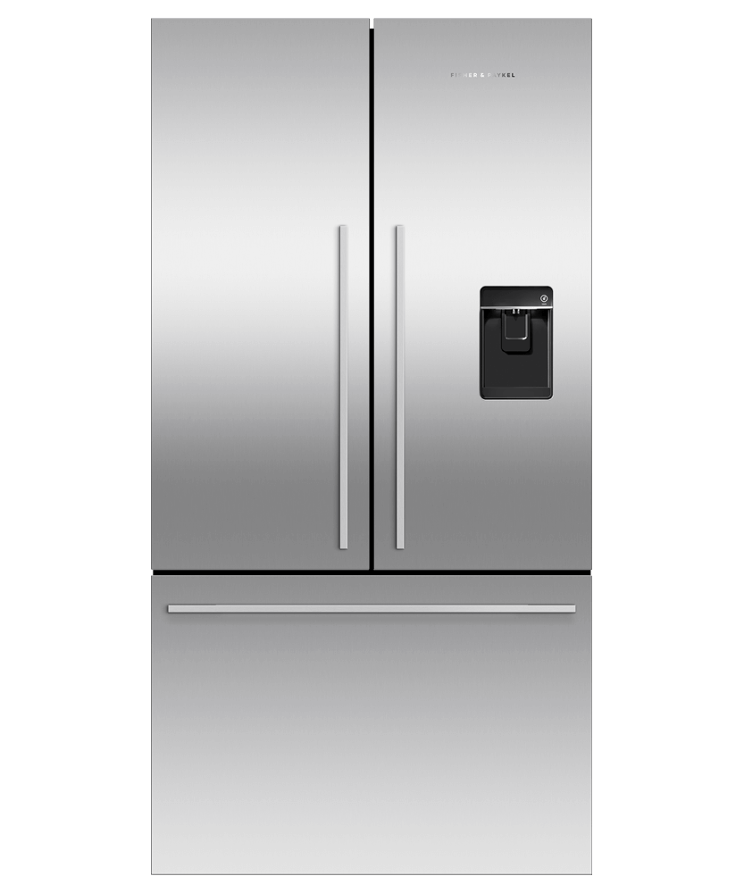 614L French Door Fridge w/ Ice & Water - Brushed S/S