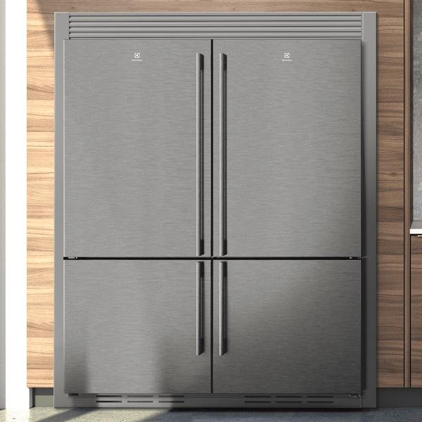 Trim Kit for 2 x 70cm Refrigerator Brushed Dark Finish