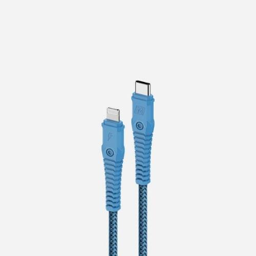 Momax Tough Max DL33 Fast Charge PD 3.0 C to lightning 1.2m Cable - Blue
