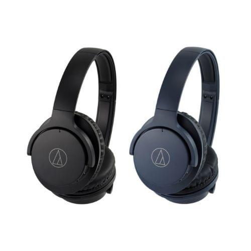 Audio Technica ATH-ANC500BT Over-Ear Wireless Noise Cancelling Headphones (Navy)