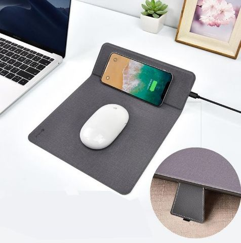 COTEetCI Wireless Charger with Mouse Pad - Black