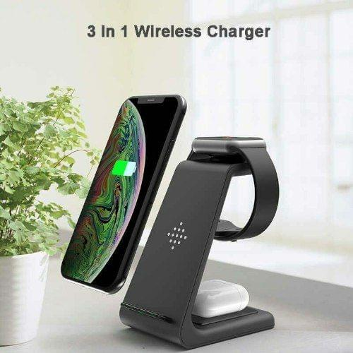 ULTIMATE T3 3-IN-1 WIRELESS FAST CHARGING STATIION - WHITE