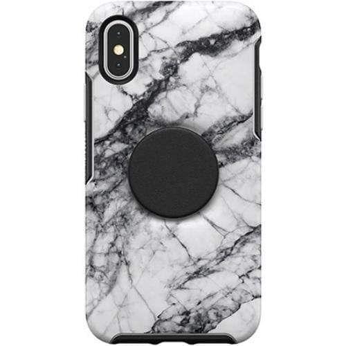 OtterBox + POP Symmetry iPX/XS White Marble