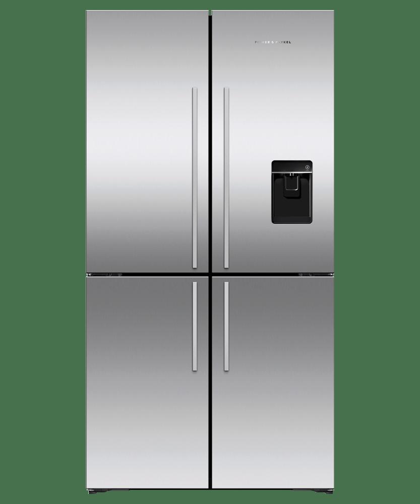 605L 4 Door French Door Fridge - Black S/S