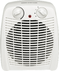 GVA 2000W Upright White Fan Heater