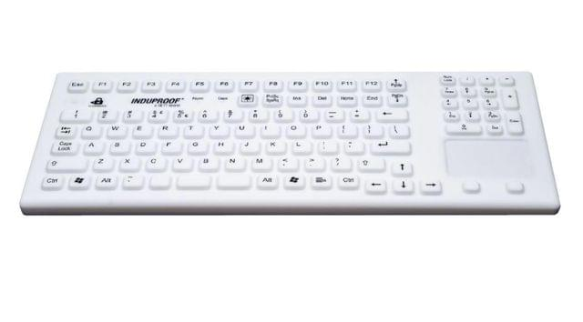 GETT Magnetic Backlit Sanitizable Silicone USB Keyboard with Touchpad