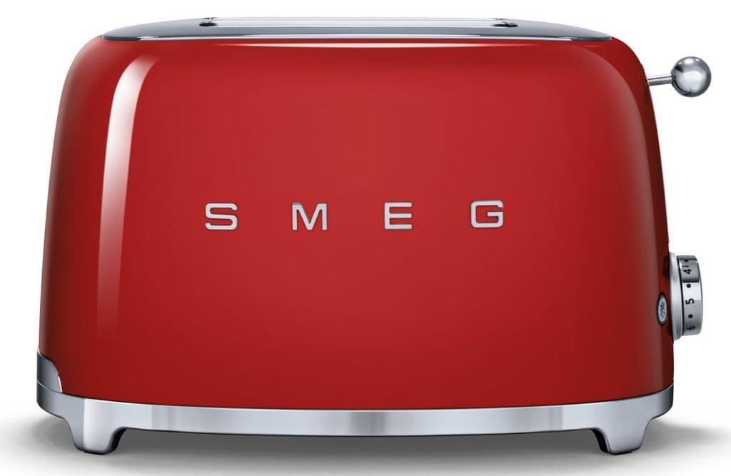 SMEG 50's Style 2 Slice Toaster - Red (TSF01RDAU)