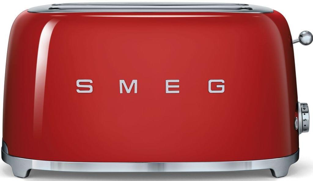 SMEG 50's Style 4 Slice Toaster - Red (TSF02RDAU)