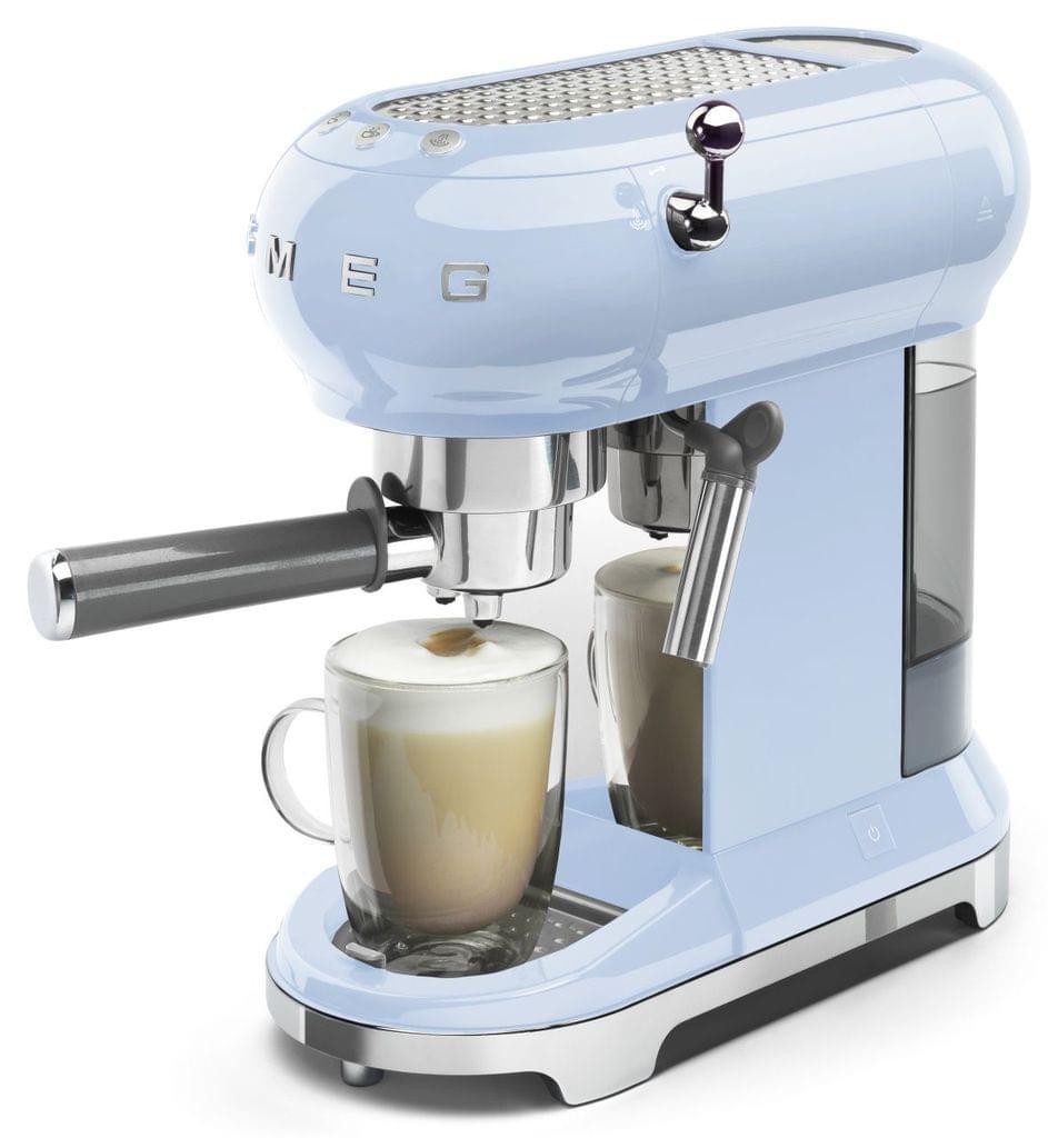 SMEG 50's Style Coffee Machine - Pastel Blue (ECF01PBAU)